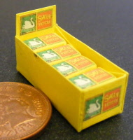 1:12 Scale Display Box Of Old Holborn Packets Tumdee Dolls House Miniature Shop