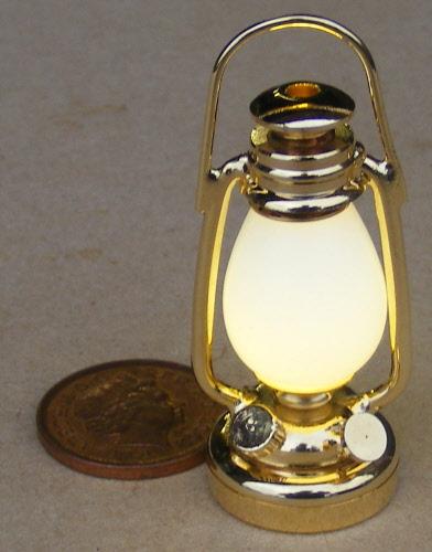 dolls house light oil lamp copper on