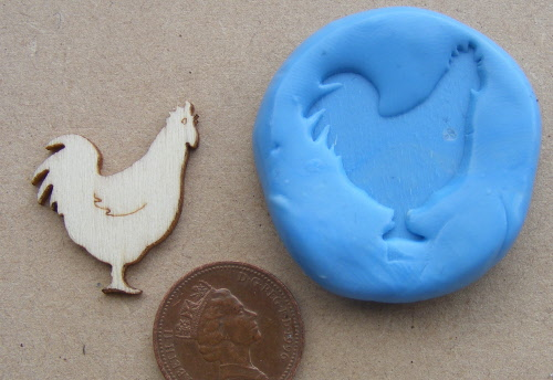 Reusable 2 Part Silicon Rubber Mould Dolls House Miniature Robin Tumdee Bird