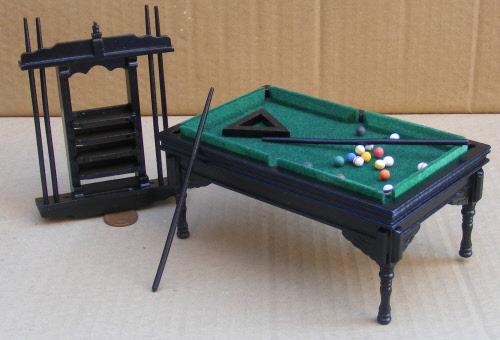 Dolls House Miniature Pool Table + Rack 2 2