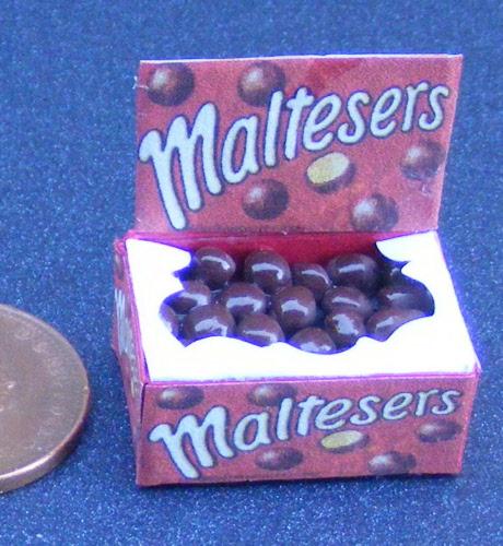 1:12 Scale Dish Of 12 Chocolate Balls Tumdee Dolls House Miniature Sweets W28bw