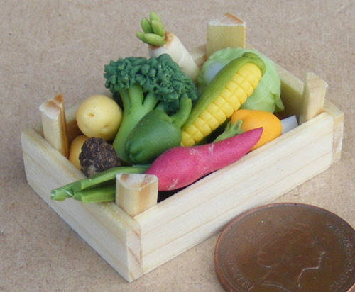 Dollhouse Miniature Fresh Garden Spring Mix Salad on a Plate