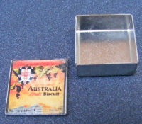 Dolls House Miniature Square Metal Biscuit Tin