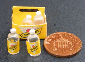 Tumdee Miniatures Dolls House Plastic Small Pepsi Crate with 12 Bottles
