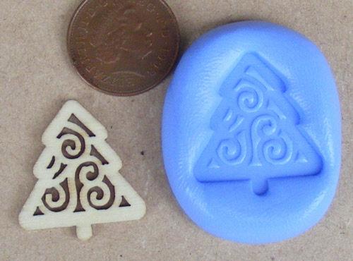 Reusable Christmas Tree Silicone Mould Food Safe Sugarcraft Jewellery Tumdee 7