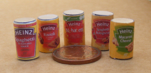 1:12 Scale Empty Tomato Soup Tin Tumdee Dolls House Miniature Kitchen Shop Food